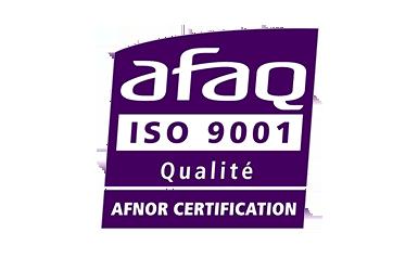 Logo de la certification ISO 9001:2015 obtenue par Ubiqus
