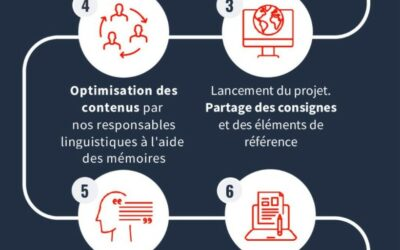 Infographie : méthodologie suivie pour votre projet de traduction
